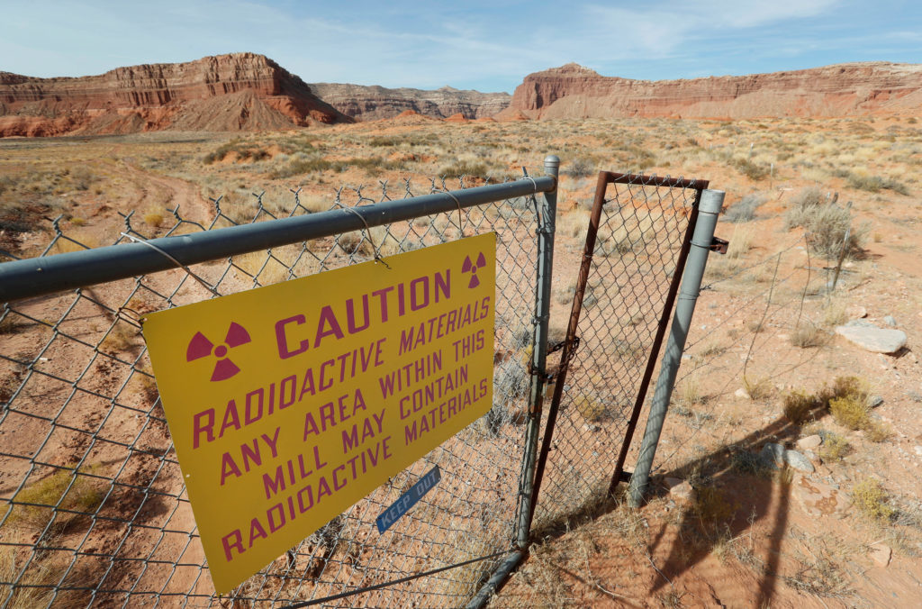 """Uranium One and Anfield's """"Shootaring Canyon Uranium Mill"""" facality sits outside Ticaboo"""